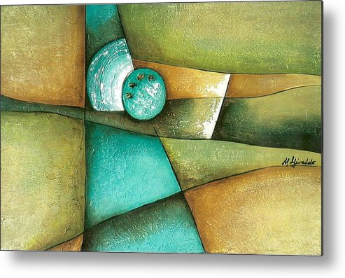 Contemporary Abstract Metal Print featuring the painting Esmeralda by Marta Giraldo