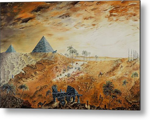 Egypt Metal Print featuring the painting Eternity by Richard Barham