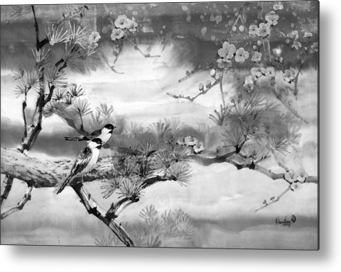 Chinese Painting Metal Print featuring the painting Expressions Of Spring by Eileen Fong