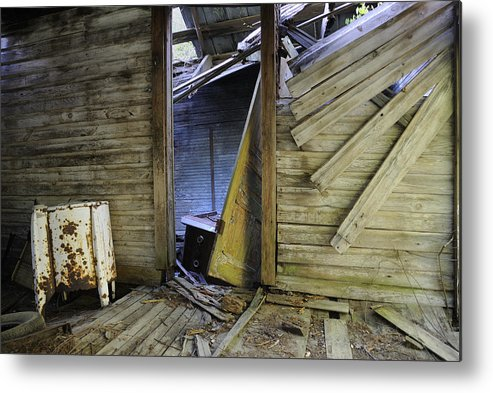 Old Metal Print featuring the photograph Faded Light by Ed Zirkle
