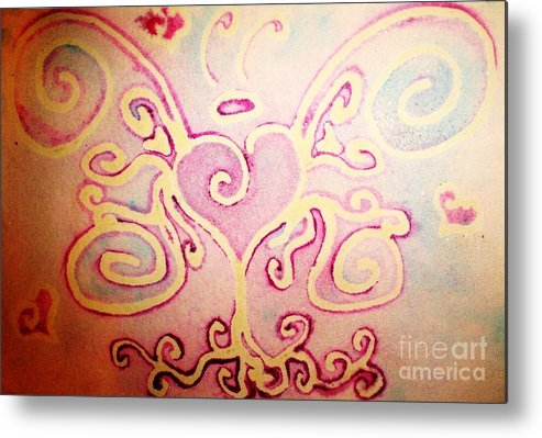 Love Metal Print featuring the painting Fairylove by Chandelle Hazen