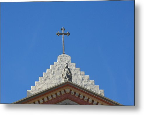 Church Metal Print featuring the photograph Faith In The Sky by Dietrich Sauer