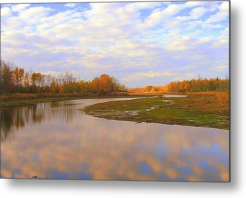 Photography Metal Print featuring the photograph Fall Picture Of The Stream by Katina Cote