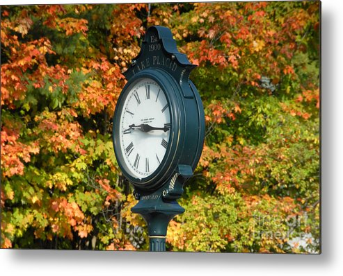 Lake Placid New York Metal Print featuring the photograph Fall Time by David Lee Thompson