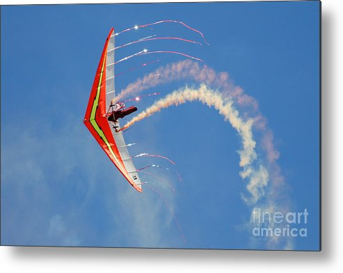 Sky Metal Print featuring the photograph Fantasy Flight by Larry Keahey