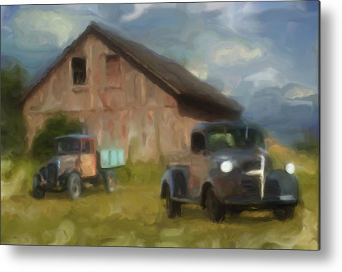Barn Metal Print featuring the photograph Farm Scene by Jack Zulli