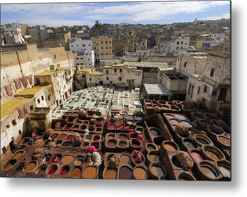 Morocco Metal Print featuring the photograph Fez Morocco by Liz Pinchen