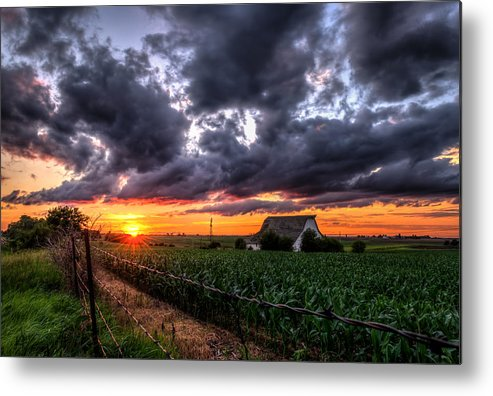 Landscape Metal Print featuring the photograph Field Of Dreams by Mark McDaniel