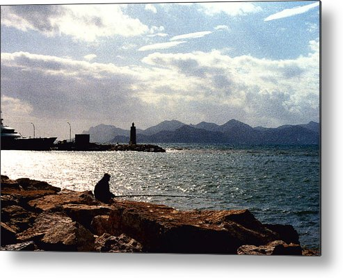 Fisherman Metal Print featuring the photograph Fisherman In Nice France by Nancy Mueller