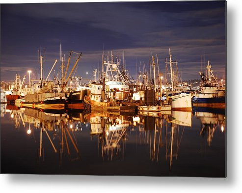 Fishing Metal Print featuring the photograph Fishermans Terminal by Alasdair Turner