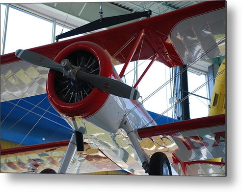 Red Metal Print featuring the photograph Fly Away by Michael L Gentile