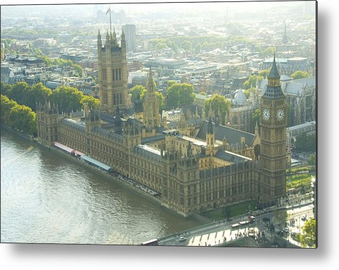 Parliament Metal Print featuring the photograph Foggy Day In London Town by Charles Ridgway
