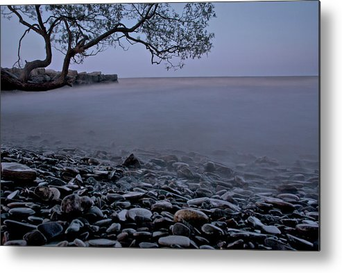Mystic Lake Metal Print featuring the photograph Foggy Lake At Night by Andre Distel