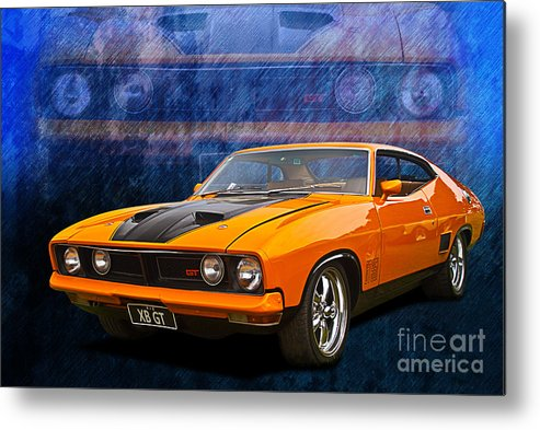 Ford Falcon Xb Gt >> Ford Falcon Xb 351 Gt Coupe Metal Print