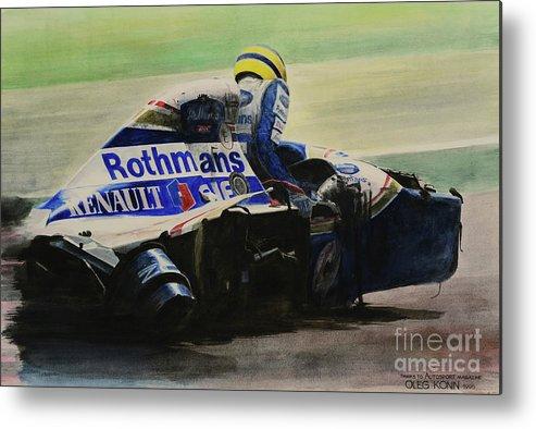 Formula One Metal Print featuring the painting Formula - Alone by Oleg Konin