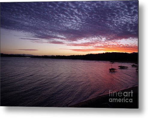 Landscape Metal Print featuring the photograph Four Elements Sunset Sequence 4 Coconuts Qld by Kerryn Madsen- Pietsch
