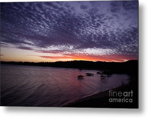 Landscape Metal Print featuring the photograph Four Elements Sunset Sequence 7 Coconuts Qld by Kerryn Madsen - Pietsch