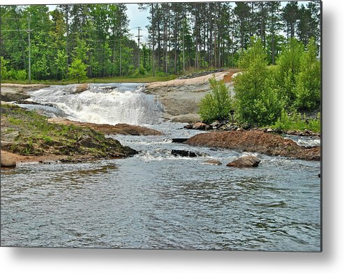 Waterfall Metal Print featuring the photograph Frank J Russel Falls 2 by Michael Peychich