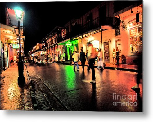 Bourbon Street Metal Print featuring the photograph French Quarter New Orleans by Thomas R Fletcher