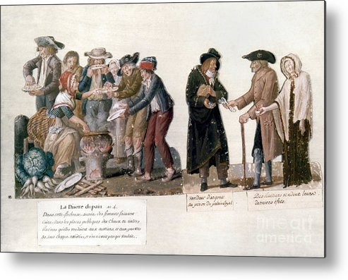 1795 Metal Print featuring the photograph French Revolution, 1795-96 by Granger