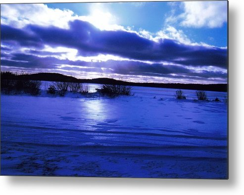 Landscape Metal Print featuring the photograph Frozen In Time by Sharon Stacey