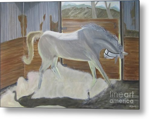 Horse Metal Print featuring the painting furious Horse by Willy Elgharb