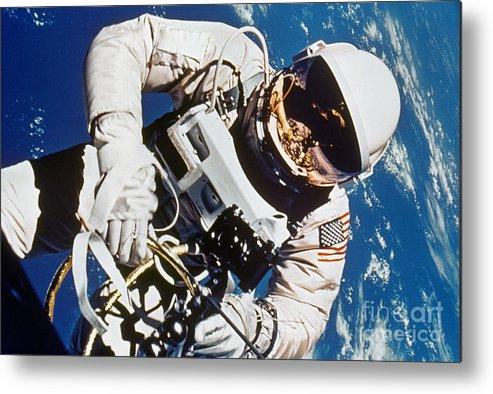 1965 Metal Print featuring the photograph Gemini 4: Spacewalk, 1965 by Granger