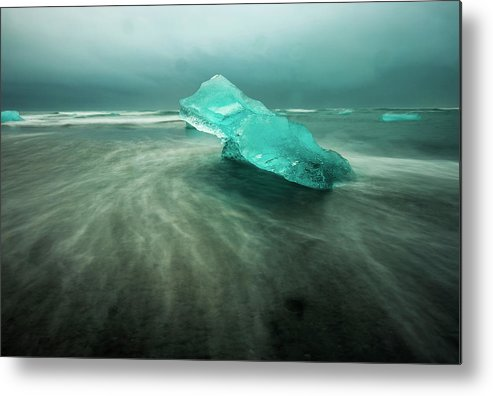Iceland Metal Print featuring the photograph Glacier Beach by Tyler Soden