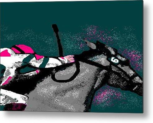 Race Horse Metal Print featuring the digital art Go by Carole Boyd