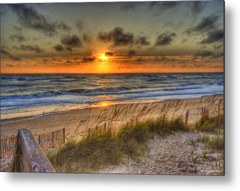 Water Metal Print featuring the photograph God's Promise Of A New Day by E R Smith