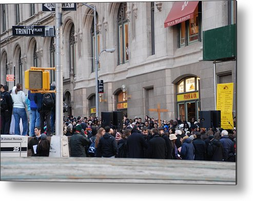 Church Metal Print featuring the photograph Good Friday On Trinity Place by Rob Hans