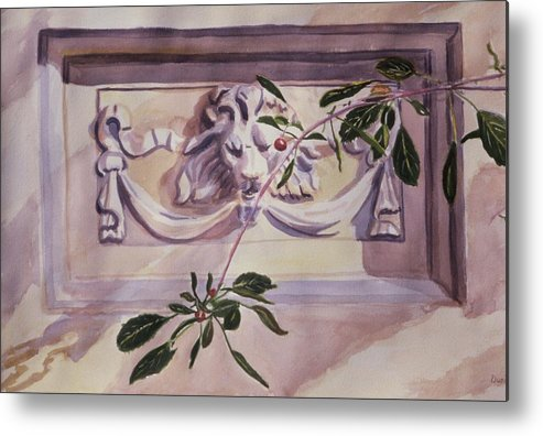 Architecture Metal Print featuring the painting Guardian by Durinda Cheek