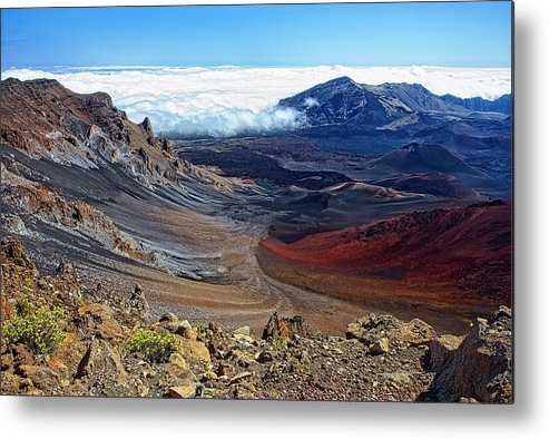 Landscape Metal Print featuring the photograph Haleakala Crater by Marcia Colelli