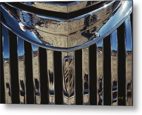 Antique Chevrolet Metal Print featuring the photograph Happy Chevrolet by Kurt Gustafson