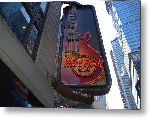 Music Metal Print featuring the photograph Hard Rock Cafe N Y C by Rob Hans