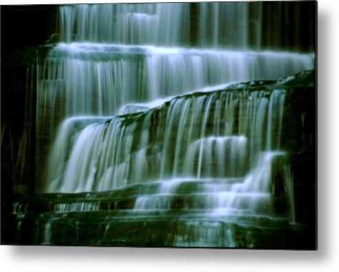 Waterfall Metal Print featuring the photograph Hector Falls -detail by Roger Soule