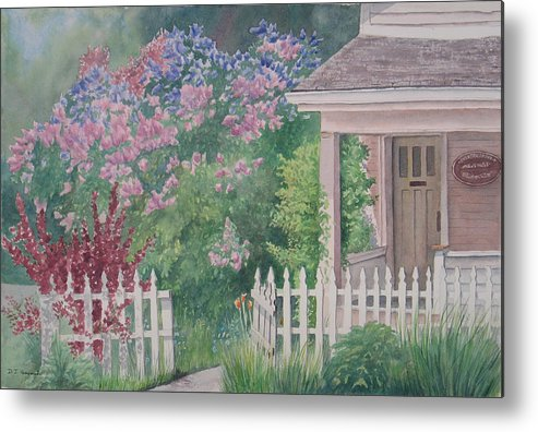 Heritage Metal Print featuring the painting Heritage House by Debbie Homewood