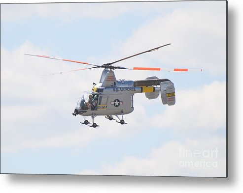 Helicopter Metal Print featuring the photograph Hh-43b Huskie by Larry Keahey
