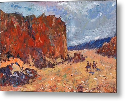 Oil Metal Print featuring the painting High Noon by Horacio Prada
