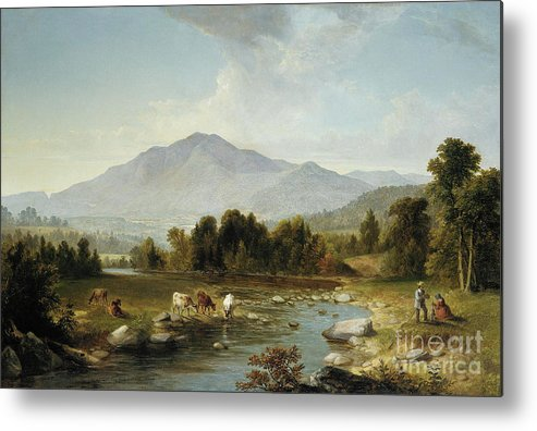 High Point Metal Print featuring the painting High Point Shandaken Mountains, 1853 by Asher Brown Durand