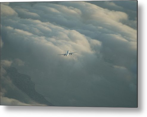 Airplane Metal Print featuring the photograph Holding by Brian Anderson