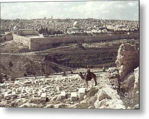 Camel Metal Print featuring the photograph Holy Land: Jerusalem by Granger