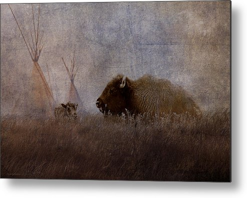 Ron Jones Metal Print featuring the photograph Home On The Range by Ron Jones