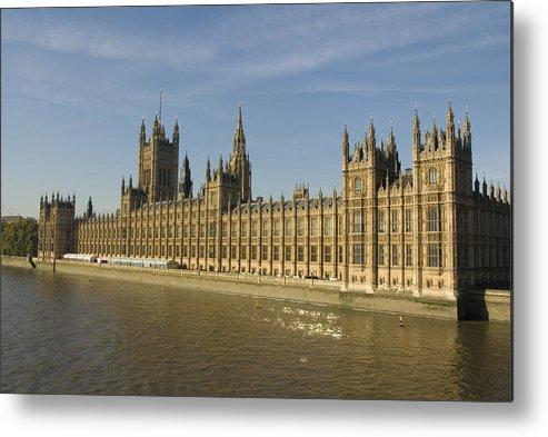 Parliament Metal Print featuring the photograph Houses Of Parliament On A Rare Day by Charles Ridgway