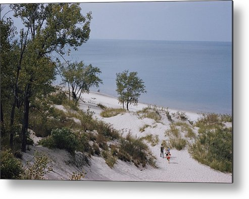 lake Michigan Metal Print featuring the photograph Indiana Dunes State Park Provides by B. Anthony Stewart