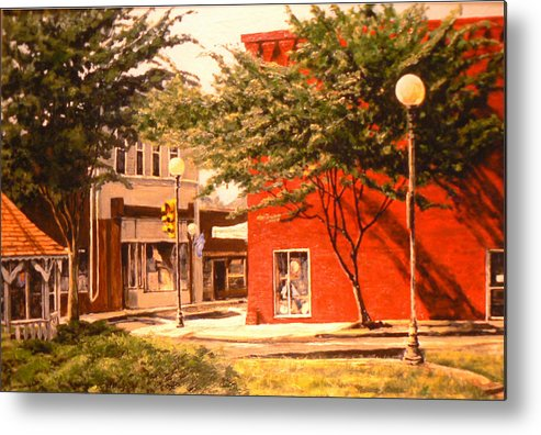 Small Town Metal Print featuring the painting Irish Soldier by Thomas Akers