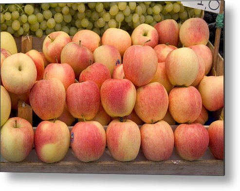 Apples Metal Print featuring the photograph Italian Fruit Display by Charles Ridgway
