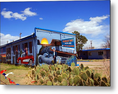 Route 66 Metal Print featuring the photograph James Dean Was Here Too by Susanne Van Hulst