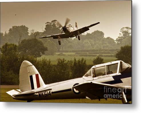 Aircraft Metal Print featuring the photograph Just Before Landing by Angel Ciesniarska