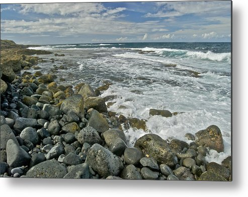 Hawaii Metal Print featuring the photograph Kaena Point Shoreline by Michael Peychich